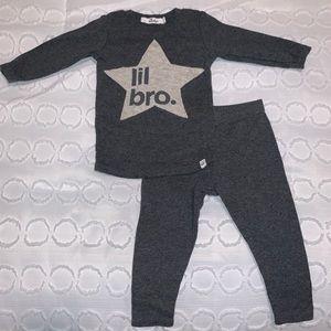 Oh Baby Lil Bro Pajama Set